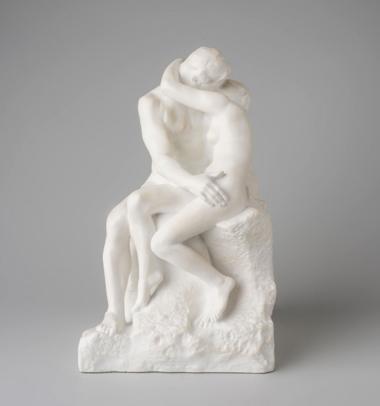 The Kiss (marble patina)