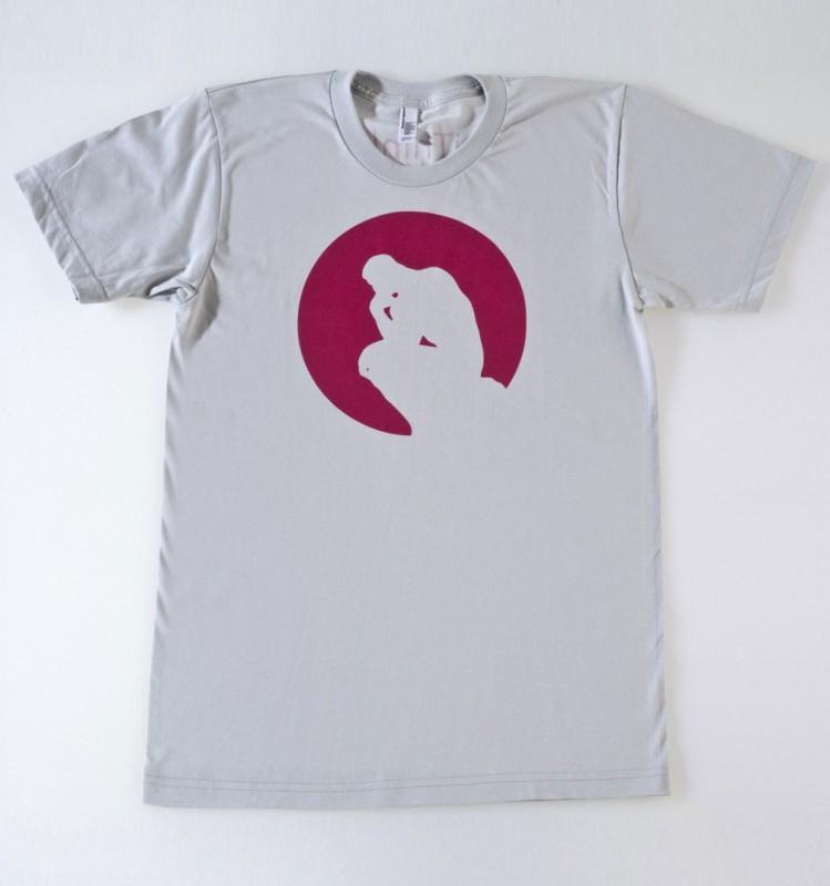 Tee-shirt Le Penseur dans un cercle