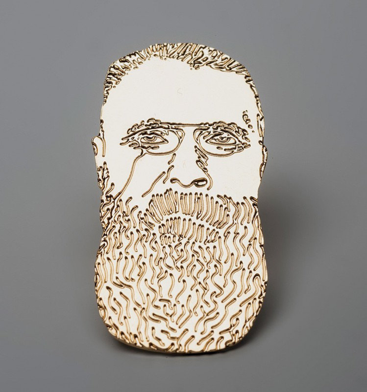 Rodin Label Pin