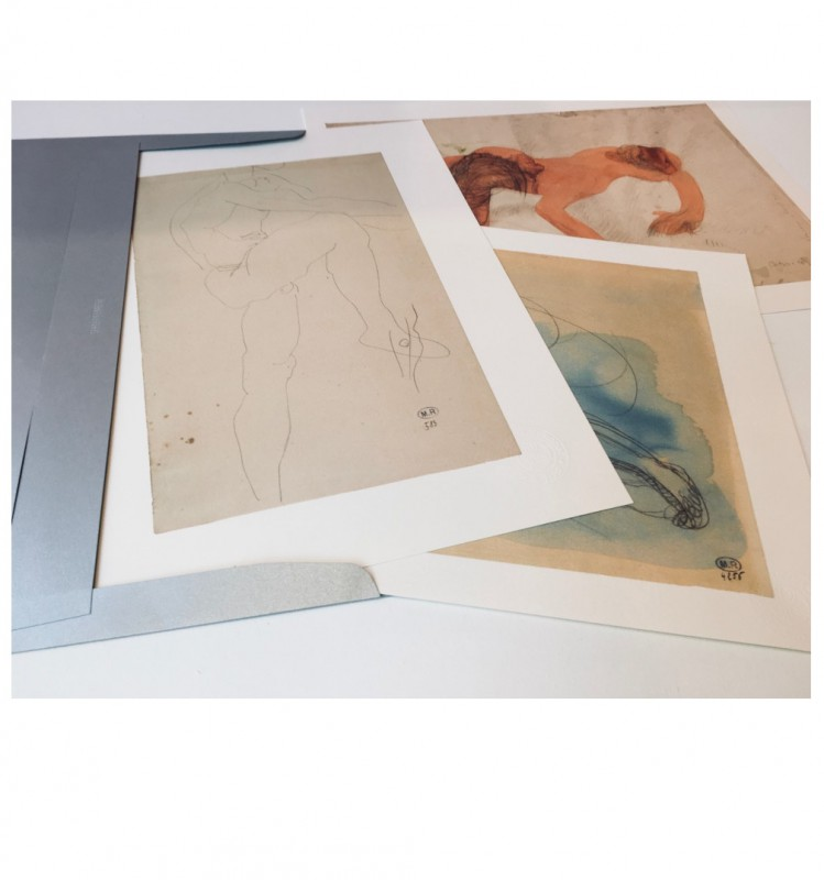 Three Rodin's drawing reproductions, envelope n°14